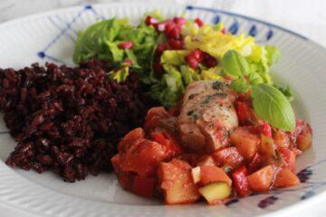 torsk med grøntsager