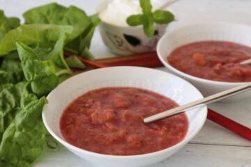 rabarbergrød uden tilsat sukker