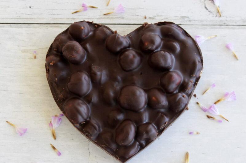 Ristede chokoladehjerter