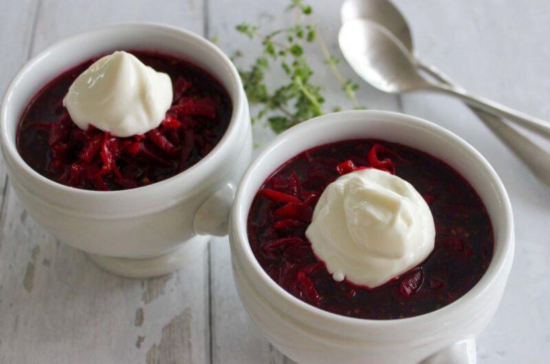 Borsjtj - russisk rødbedesuppe